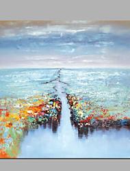 Dipinta a mano Astratto Fantasia Composizione orizzontale Panoramica,Modern Classico Un Pannello Tela Hang-Dipinto ad olio For