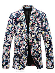 cheap -HOT S-5XL Plus Size Hight Quality Men's Casual/Daily Party/Cocktail Vintage Casual Spring Fall SlazerSolid Shirt Collar Long Sleeve Regular Suit