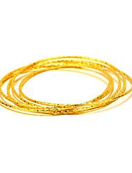 economico -Braccialetti Vintage Natura Di tendenza Rame Placcato in oro 24K Plated Gold Tonda Circolare Gioielli Regali di Natale Matrimonio Feste