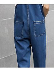 la primavera e l'autunno sciolti i jeans bretelle