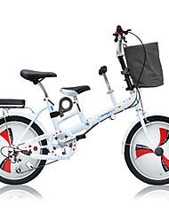 abordables -Bicicletas plegables Ciclismo 3 velocidad 20 pulgadas Doble Disco de Freno Suspensión por Muelle Monocoque Ordinario Acero Aleación de