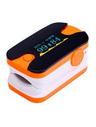 digital de ponta do dedo oxímetro de pulso display OLED monitor de freqüência cardíaca azul e laranja