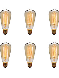 cheap -Ecolight™ 6pcs 40W E26 / E27 ST64 2300k Incandescent Vintage Edison Light Bulb 220-240V