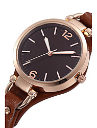 cheap -Women's Quartz Wrist Watch Water Resistant / Water Proof / Punk / Cool Genuine Leather Band Charm / Vintage / Casual / Fashion Black /
