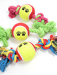 cheap -Cat Toy Dog Toy Pet Toys Ball Chew Toy Interactive Teeth Cleaning Toy Cartoon Rope Elastic Footprint Tennis Ball Nobbly Wobbly Woven