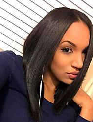 Grade 9A Human Hair Bob Full Lace Wigs Silky Straight Hair 100% Peruvian Virgin Hair Glueless Full Lace Bob Wigs For Black Woman