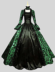 Gothique Victorien Femme Une Pièce Robes Cosplay Poète Manches Longues