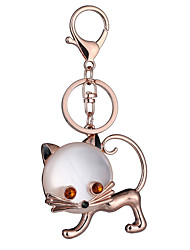 cheap -Key Chain Toys Key Chain Cat Metal Creative Chic & Modern 1 Pieces Boys' Girls' Christmas Birthday Valentine's Day Gift