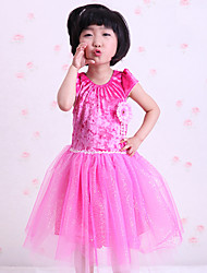 Shall We Ballet Dresses Children Performance  Ruffles Splicing  Dress