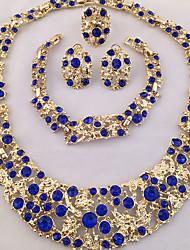 preiswerte -Damen Schmuckset Ring Armband Ohrring Statement Ketten Krystall Strass Personalisiert Einzigartiges Design Afrika Modisch Party Besondere