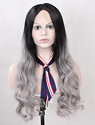 Hot Selling T1B/Grey Color Synthetic Lace Front Wigs Body Wave Heat Resistant Synthetic Fiber Hair Lace Wig For Fashion Woman
