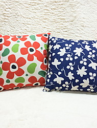 1 pcs Cotton/Linen Pillow CaseFlower Graphic Prints Accent/Decorative Outdoor Modern/Contemporary Country Casual
