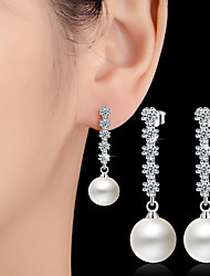 cheap -Imitation Pearl Drop Earrings Ball Earrings Jewelry Wedding Party Daily Casual Alloy 1 pair Silver