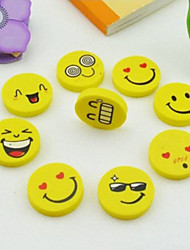 cheap -Lovely Funny Smile Face Kid Cute Eraser Rubber Novelty School Supplies Office Accessories Gifts Random Pattern