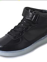 Damen-Sneaker-Outddor Lässig Sportlich-PU-Flacher Absatz-Komfort Neuheit Light Up Schuhe