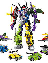 cheap -ENLIGHTEN Robot Building Blocks Toys Toys Warrior Machine Robot Military Transformable Plastic Kids Boys' Girls' Boys 506 Pieces