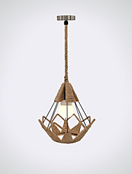Pendant Light ,  Modern/Contemporary Traditional/Classic Vintage Retro Lantern Others Feature for Mini Style Wood/BambooLiving Room