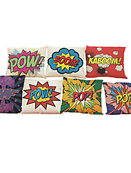 "Set of 7  Pop Art Boom Pillows Cover Fashion  Decorative Pillowcase Square (18""*18"")"
