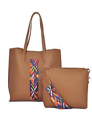 preiswerte -Damen Taschen PU Bag Set 2 Stück Geldbörse Set für Normal Ganzjährig Braun Schwarz Rote Rosa Grau