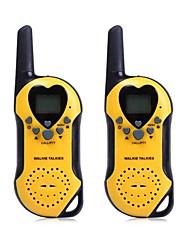 t5 2pcs 22 canais UHF walkie-talkie com tela de lcd