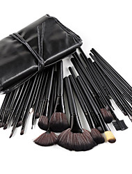 cheap -32pcs Makeup Brushes set Professional Powder/Foundation/Concealer/Blush brush Shadow/Eyeliner/Lip/Brow/Lashes Brush Makeup Kit Cosmetic Brushes