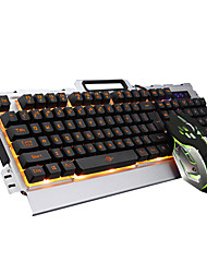 cheap -Wired Mouse keyboard combo DPI Adjustable Backlit USB Port Mechanical keyboard