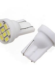 cheap -2pcs T10 Car Light Bulbs 4W SMD 3014 280lm LED Exterior Lights