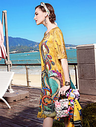 Loose silk flowers lightinthebox yenmeinar going out daily beach simple sophisticated loose dress mightylinksfo