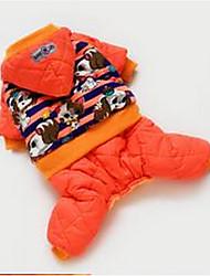preiswerte -Hund Mäntel Overall Hundekleidung Tier Orange Baumwolle Daune Kostüm Für Haustiere Niedlich Lässig/Alltäglich
