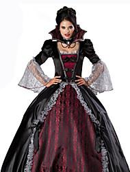 abordables -Reine Costume de Cosplay Femme Carnaval Fête / Célébration Déguisement d'Halloween Rouge + noir. Couleur Pleine