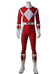cheap -Super Heroes Cosplay Cosplay Costume Halloween Props Party Costume Masquerade Movie Cosplay Red Leotard/Onesie Gloves Belt Boots More