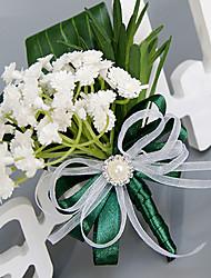 abordables -Fleurs de mariage Rond Roses Lavande Boutonnières Mariage La Fête / soirée Polyester Satin Soie Organza