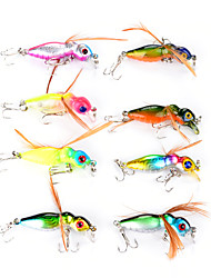 cheap -8 pcs Flies Vibration/VIB Fishing Lures Vibration/VIB Flies Hard Plastic Feather Sea Fishing Fly Fishing Bait Casting Spinning Jigging