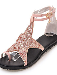 Girls' Sandals Club Shoes Novelty Gladiator Glitter Spring Summer Fall Casual Outdoor Dress Club Shoes Novelty Gladiator Sequin Buckle