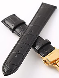 cheap -Genuine Leather Watch Band Strap Black 20cm / 7.9 Inches 2cm / 0.8 Inches