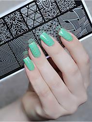 nato abbastanza timbro nail art stamping template strumento unghie piatto di immagine stencil