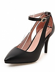 cheap -Women's Shoes Leatherette PU Spring Summer Comfort Novelty Heels Walking Shoes Stiletto Heel Pointed Toe for Wedding Casual Party &