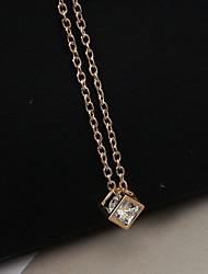 Недорогие -Жен. Ожерелья с подвесками / длинное ожерелье - Стразы, Искусственный бриллиант Мода Золотой, Серебряный Ожерелье Бижутерия Назначение Повседневные