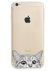 Pour Motif Coque Coque Arrière Coque Chat Flexible PUT pour Apple iPhone 7 Plus iPhone 7 iPhone 6s Plus/6 Plus iPhone 6s/6 iPhone SE/5s/5