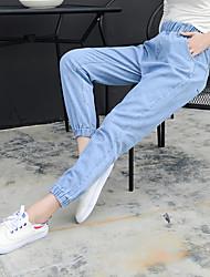 2017 Frühling koreanische Version von elastischen und gürten Meter breit Song Halun neun Punkte Jeans