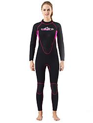 SLINX® Women's 3mm Wetsuits Dive Skins Waterproof Breathable Thermal / Warm Quick Dry Windproof Coolmax Memory Foam Tactel Diving Suit