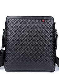 Men Bags All Seasons PU Shoulder Bag for Casual Sports Outdoor Black