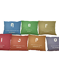 Set of 7 Letter Story   Linen Pillowcase Sofa Home Decor Cushion Cover
