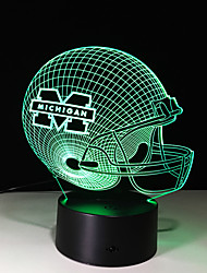3d creativo personalità colorate tocco LED notturna