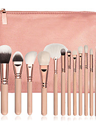 cheap -15pcs Pink Makeup Brush Set Contour Brush Blush Brush Eyeshadow Brush Brow Brush Eyeliner Brush Concealer Brush Fan Brush Powder Brush Foundation