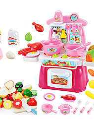 cheap -beiens Toy Kitchen Sets Toy Dishes & Tea Sets Kids' Cooking Appliances Pretend Play Toys Toys LED Lighting Sound ABS Girls' 22 Pieces