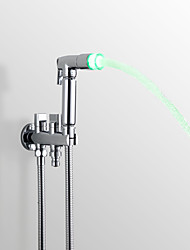 Contemporary Hand Shower Chrome Feature for LED Rainfall Shower Head Bidet Spray Faucet