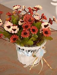 baratos -Flores artificiais 1 Ramo Pastoril Estilo Margaridas Flor de Mesa