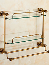 Bathroom Gadget Contemporary Brass 52cm Towel Bar Bathroom Shelf Wall Mounted