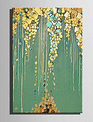cheap -E-HOME Oil painting Modern Abstract Green Pond Pure Hand Draw Frameless Decorative Painting